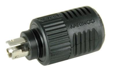 3-Wire ConnectPro Plug | Marinco on 4 wire plug, 3 phase plug, 3 prong plug, 3 pin plug, 3 wood plug, 6 wire plug, 2 wire plug,