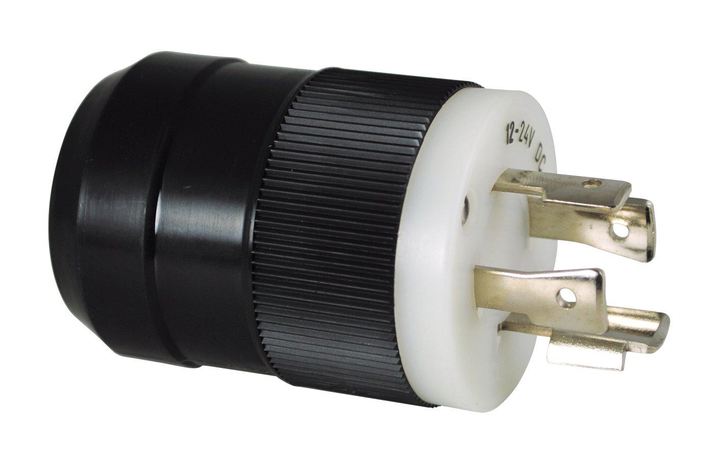 4 wire 12 24v trolling motor plug black marinco rh marinco com Motorguide Trolling Motor Wiring Diagram 12 Volt Trolling Motor Wiring Diagram